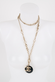 Chanel Fall/Winter 2013 No. 5 medallion silver chain necklace/belt