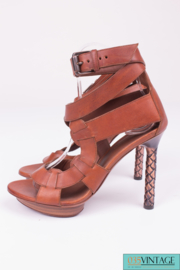 Bottega Veneta pumps - brown leather