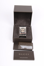 Gucci Twirl Collection Stainless Steel Bangle Bracelet Watch