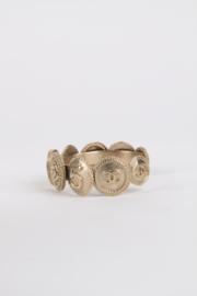 Chanel Fall/Winter 2014 iconic CC logo coins cuff bracelet