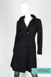 Chanel Wool Hooded Coat - black