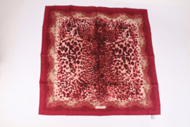 Salvatore Ferragamo Silk Scarf Animal Print - burgundy red