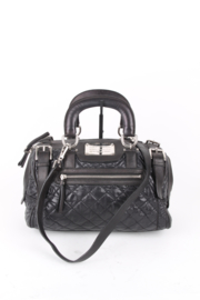 Dolce and Gabbana Black Leather Quilted Buckle Strap Miss Easy Way Shoulder Bag