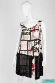 Moschino Cheap and Chic Dress - black/white/red silk