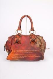 Louis Vuitton Richard Prince Red Monogram Mancrazy Jokes Bag - brown/orange/red