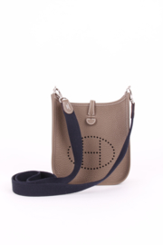 Hermes Evelyne 16 Amazone Brown Taupe Leather H Logo Silver Coloured Hardware Crossbody Hand Bag