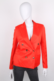 Lanvin Spring/Summer 2015 Orange Linen Double Breasted Longsleeve Blazer