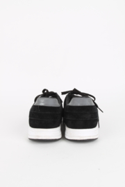 Gucci Black Suede Logo White Sole Low Top Sneakers Trainers