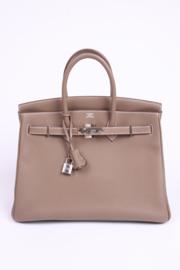 Hermes Birkin Bag 35 Togo Étoupe - silvertone hardware