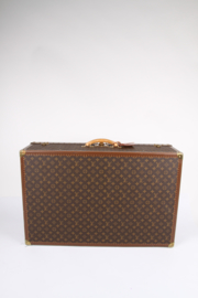 Louis Vuitton Monogram Trunk Suitcase - brown