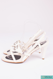 Chanel Sandals - white leather
