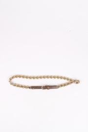 Gucci Gold-Tone Chain Belt - brown/beige/green