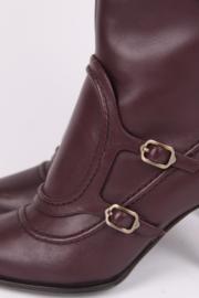 Salvatore Ferragamo Laurita Knee-high Boots - burgundy