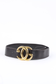 Gucci GG Vintage  Leather Belt - dark brown