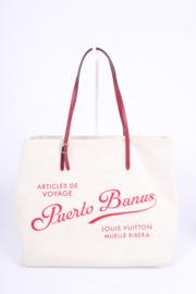 Louis Vuitton Neverfull GM Puerto Banus Limited Edition - off-white/fuchsia
