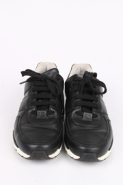 Chanel Leather Sneakers - black