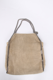 Stella McCartney Falabella Canvas Bag - beige/grey