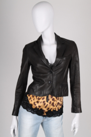 Chloe Leather Jacket - black