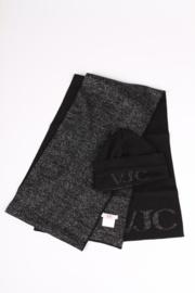 Burberry Leather & Fur Gloves - black