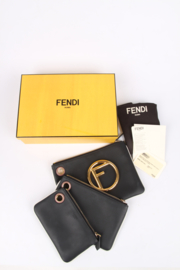 Fendi Triplette Clutch - black