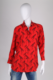 Saint Laurent Silk Gun Print Shirt - red/black