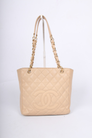 Chanel Mini Shopper - beige caviar leather