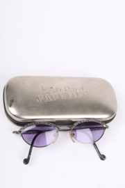Jean Paul Gaultier 56-0003 Vintage 90's Steampunk Sunglasses - blackish silver
