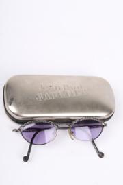 Jean Paul Gaultier 56-0003 Vintage 90's Steampunk Sunglasses - blackish silver