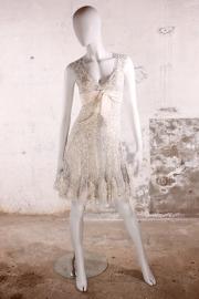 Elie Saab Haute Couture avondjurk - wit/zilver pailletten