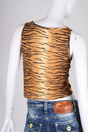 Moschino Cheap and Chic Singlet Top - tiger print