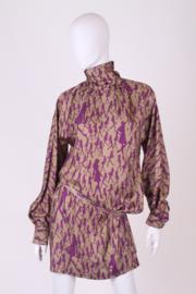 Versace VJC Silk Dress - beige/purple