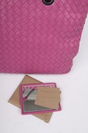 Bottega Veneta Intrecciato Double Chain Shoulder Bag - purple
