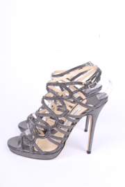 Jimmy Choo Strappy Heels - blackish silver