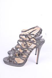 Jimmy Choo Strappy Heels - blackish silver