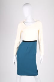 Roland Mouret Dress - petrol/off-white/black