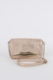 Diane Von Furstenberg Gold Leather Gold Plated Lips Flirty Mini Metallic Crossbody Bag