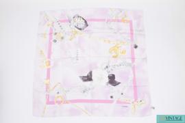 Chanel Shawl Silk - pink/gold/grey/black