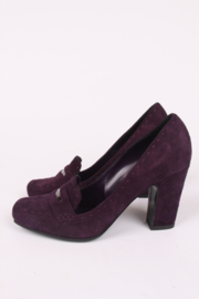 Versace Suede Pumps - dark purple
