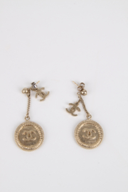 Chanel Fall/Winter 2013 iconic CC logo coin drop earrings