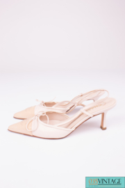 Chanel Slingback Pumps - white & beige