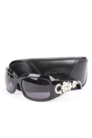 Bvlgari black swarovski crystal flower sunglasses