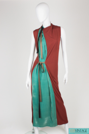 Jean Paul Gaultier Dress - green/brown