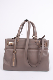Salvatore Ferragamo Leather Buckled Tote Bag Visone - taupe