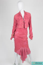 Christian Dior Dress & Jacket - pink suede