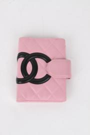 Chanel Cambon Pink Quilted Lambskin Leather CC Logo Monogram Agenda Planner Organizer