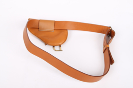 Christian Dior Saddle Bag Belt - brown
