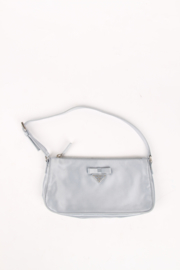 Prada Satin Clutch Bag - silver
