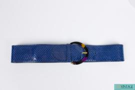 Gucci vintage Belt Python Leather - blue