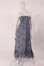 JAY AHR strapless dress - blauw/wit