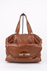 Jimmy Choo Brown Leather Multipocket Justine Handbag